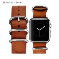 apple belt buckle - For Apple Watch Dermis Grain Band Buckle Watch Belt Genuine Plain Leather Strap Without Metal Connector Leather Watch Band MM MM