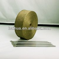 Cheap 15m Titanium Heatwrap Top Quality High Temp Exhaust Manifold Downpipe Insulating Tape Thermal Turbo Wrap