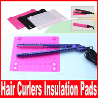 Wholesale New Hair Straightening Silicone Insulation Non slip Storage Mat for Straight Hair Curlers Pads Hair Product Accessories drop shipping