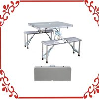 Wholesale New Camping Picnic Table With Seats Outdoor Garden Aluminum Portable Folding