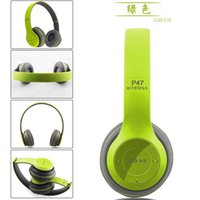 order free cell phones - Bluetooth Headphone P47 Wireless Headband Earphone Hands Free Music Headset With MF TF five color mix order