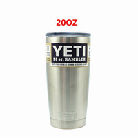 beer mug logo - 2016 hot Yeti oz Cups Cooler YETI Rambler Tumbler Travel Vehicle Beer Mug Double Wall Bilayer Vacuum Insulated with logo