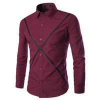 best dress shirt brands - Fashion New Brand Slim Fit Dress Shirt Men Best Selling Long Sleeve Single Breasted Men Shirts Color