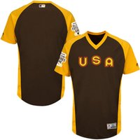 best quick games - Mens USA Majestic Brown Baseball All Star Game Futures Jersey Best Quality Size M XXXL Can Mix Order