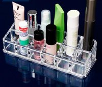 Wholesale 12 Slots Lipstick Organizer PS Makeup Cosmetics Box