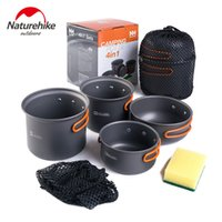 Wholesale NH High Quality Outdoor Camping Aluminium Alloy Cookware Safe Health Rub Resistance Picnic Cooking Hiking Tablewares Cooker