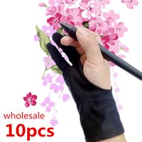 artist tablet - anti fouling artist glove for drawing Black finger painting digital tablet writing glove for Art Students arts lovers
