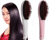 Peigne chauffante à cheveux chaud Prix-2015 Brand New Hot Sale Professional Straightening Irons Comb avec écran LCD Straight Hair Hair Straightener Iron Brush