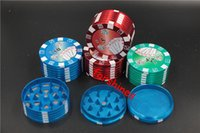 big hand poker - 144pcs USA Netherlands big hot selling layers Grinder Crusher Metal Poker Herb Tobacco Grinder cigarette Hand Muller