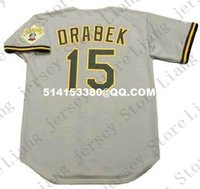 Wholesale Deluxe Edition Retro DOUG DRABEK Baseball Jersey Throwback Gray Mens Stitched Jerseys