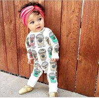 Cheap INS Infant Romoer Starback Ice Cream Babies Girl Romper Cotton Kids Clothes Baby Girls One-piece Rompers Jumpsuit K7590