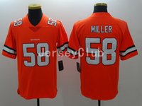 america logos - Newest Limited NWT Rush Broncos Von Miller Stitched Embroidery Logos Men America Football Jersey Authentic Sweatshirts Uniforms
