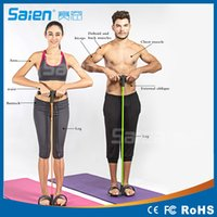 abdominal crunch exercises - Home Sports Rally Foot Pedal Pull Rope Resistance Exercise Tubes Yoga Crunches Abdominal Thin Waist Fitness Equipment