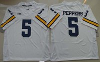 michigan - Top Quality New Style College Michigan Wolverines Jerseys Jabrill Peppers Jersey White Blue Stitched NCAA College Football Jerseys