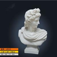 antique garden statues - Venus head statue marble sculpture art crafts European style home furnishings European style living room garden parking decoration