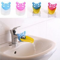 Wholesale 1PC Bathroom Sink Faucet Extender Crab Shape For Children Kid Washing Hands E00044