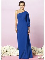 amazing delivery - Amazing One Shoulder Long Sleeves Evening Dresses Royal Blue Cheap Collection Fast Delivery NYC