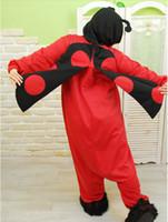 beetles movies - New Adult Unisex Animal Seven Stars Ladybug Ladybird beetles Pajamas Sleepsuit Cosplay Sleepwear