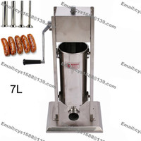 Wholesale L Heavy Duty Manual Stainless Steel Vertical Sausage Filling Maker Sausage Stuffer Sausage Stuffing Machine