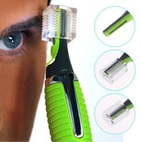 Wholesale 1pcs Personal Face Care Stainless Steel Nose Hair Trimmer Removal Clipper Shaver w LED Light for Men and Women