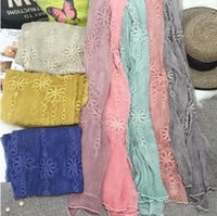 beach towel manufacturers - Japan and South Korea creative new trade shawl embroidery Ms silk scarves beach towel sunscreen manufacturers supply