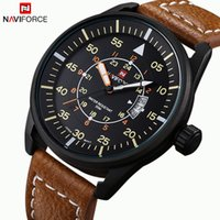 auto pin - Leather Sports Watch Brand NAVIFORCE Men Watches Men s Quartz Hour Date Clock Male Casual Military Wrist Watch Relogio Masculino