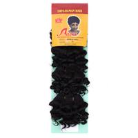 Perfumes mayor-afro rizado rizado Aieina pelo afro-A 4PCS mezcló el pelo de la armadura del pelo corto de la onda profunda Dreadlocks postizo Velvel