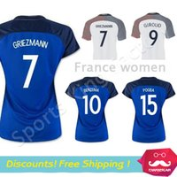 girls white shirts - Women POGBA soccer jersey GIROUD BENZEMA Lady Maillot De Foot Girl GRIEZMANN Female Shirt Away Blue Francess jerseys