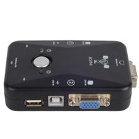 Wholesale ASDOMO Ports USB VGA KVM Switch Box Converters For Computer Keyboard Mouse F1825 W0