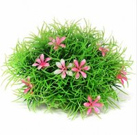 artificial grass base - Aquarium Artificial Plastic Plant Rockery Water Grass Decoration Designed with a base for steady stand