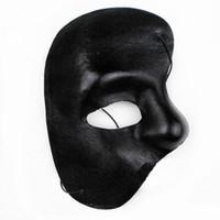 Wholesale Phantom of The Opera Masks Masquerade Ball Masks Mardi Gras Masks Handmade Half face Plain Color Plastic Masks Festive and Party Supplies Ha