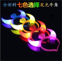 Wholesale Children s toys concert large plastic Flash LED light emitting light horn horn head hoop