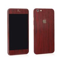 Precio de Envío libre del iphone de la manzana-Para iphone6S 5S SE 6 más TELÉFONO ETIQUETA DE ENVÍO GRATIS DE MADERA Celular iphone pegatinas de colores