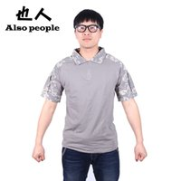 acu t shirts - Men Summer Army Combat Tactical T Shirt Military Short Sleeve Top T Shirts Hunting Clothes CP ACU AT FG Multicamo