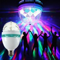 Wholesale Christmas RGB LED bulb Full Color W v Projector Crystal Stage Light Magic Ball E27 B22 DJ Dance Party Disco Effect Led Lamp