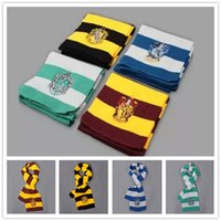 Wholesale New Fashion Harry Potter Scarves winter School Unisex Striped Scarf Gryffindor Cosplay Costume Scarves Christmas scarfs Gift B0427