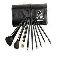 Wholesale Black Professional Superior Soft Cosmetic Makeup Brush Set Kit Pouch Bag brochas maquillaje pinceles