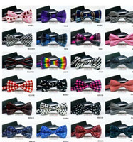 Wholesale DHL Fast Shipping Bowtie Adjustable Bow Tie Styles Men Women neck tie with very high quality handmade bowtie