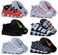 air big - 2017 New More Uptempo Olympic Retro Basketball Shoes For Women High Quality Big Air Pippen Sport Sneakers Black White Eur