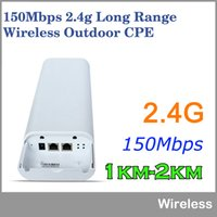 achat en gros de haute puissance wifi répéteur-2KM Wifi Range150Mbps 2.4Ghz haute puissance extérieure CPE sans fil WIFI routeur WIFI répéteur point d'accès Wifi pont étanche