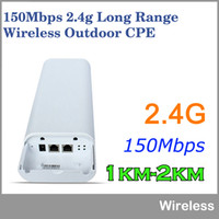 Wholesale 2KM Wifi Range150Mbps Ghz High Power Outdoor CPE Wireless WIFI Router WIFI Repeater Access Point Waterproof Wifi Bridge