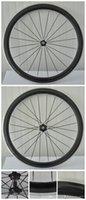 Acabado mate España-La mejor calidad V formó las ruedas enmasilladas en forma de v del carbón del remache del remachador 3k del carbón de la bicicleta del camino del borde de 50m m formó el envío libre de las ruedas