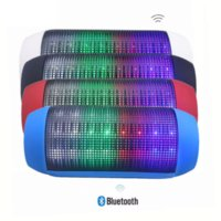 Wholesale Portable Wireless Bluetooth Speaker LED Lights Speakers Support U disk and TF card Boombox Speaker For iphone Samsung