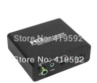 Wholesale ree shipping HDMI to DVI Converter audio coaxial amp stereo with HDCP removeing amp audio splitter capability Cheap adapter memory