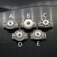 adjustable flower ring - NEW Noosa Crystal Flower Button Ring Hot sale high quality fashion DIY metal Adjustable ring fit ginger MM mm snap button rings jewelry