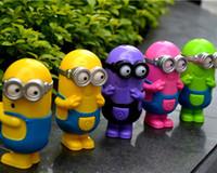 Wholesale 5 Styles Despicable Me USB Charging Fans Cartoon Rechargeable Mini fans Children Small Fan Cartoon Minions Fan
