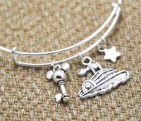 american cruise ship - 12pcs Cruise Bracelet with ship mouse key cruise world Paris charm bangles