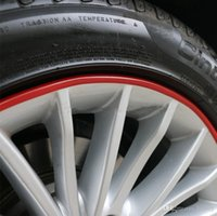 Wholesale SALE Automotive wheel protection rings protective strip tire rims scuff trim collision color strips