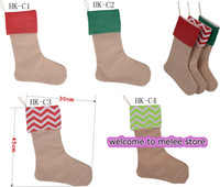 Wholesale new arrival high quality canvas Christmas stocking gift bags canvas Christmas Xmas checvron stocking decorative socks bags inch