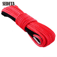 Wholesale x50 High Quality Synthetic Car Replace Winch Line Cable Rope ATV UTV LBS Replacement Red